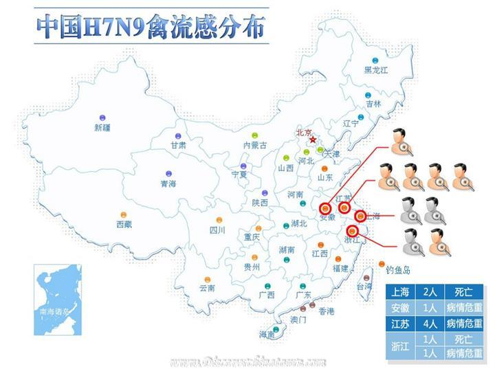H7N9 infection location