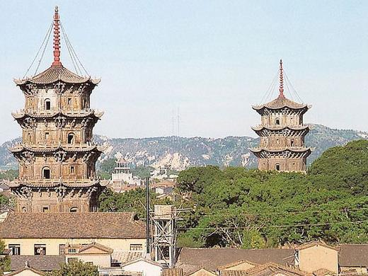 East and West Tower in Kaiyuan Temple were rebuilt in recnet years.
